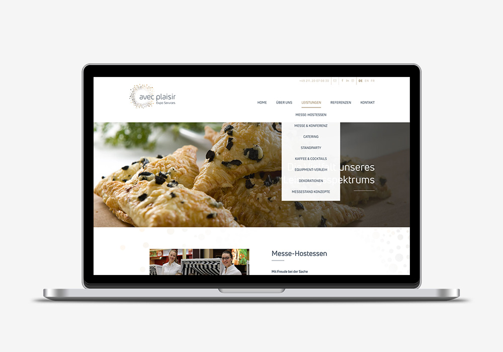 Unternehmens-Webseite AvecPlaisir Laptop Home | DEPUNKT