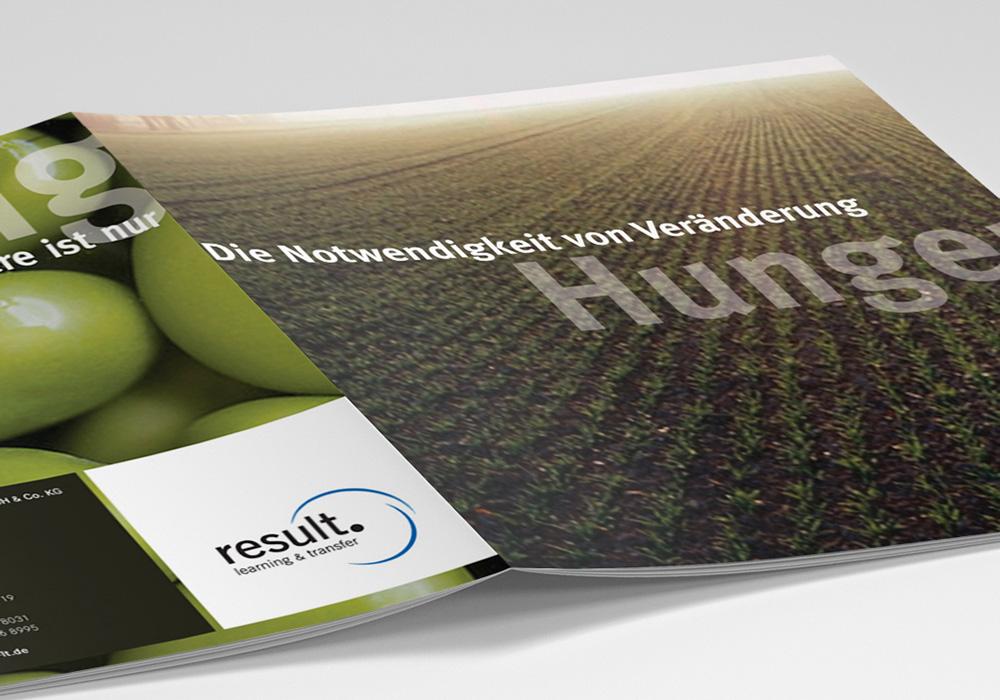 Imagekampagne result Broschüre Titel Hunger | DEPUNKT