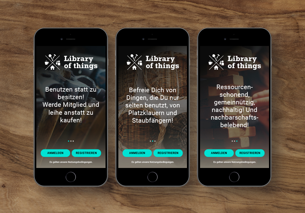 App-Design, Library Of Things, Onboarding-Screens | DEPUNKT