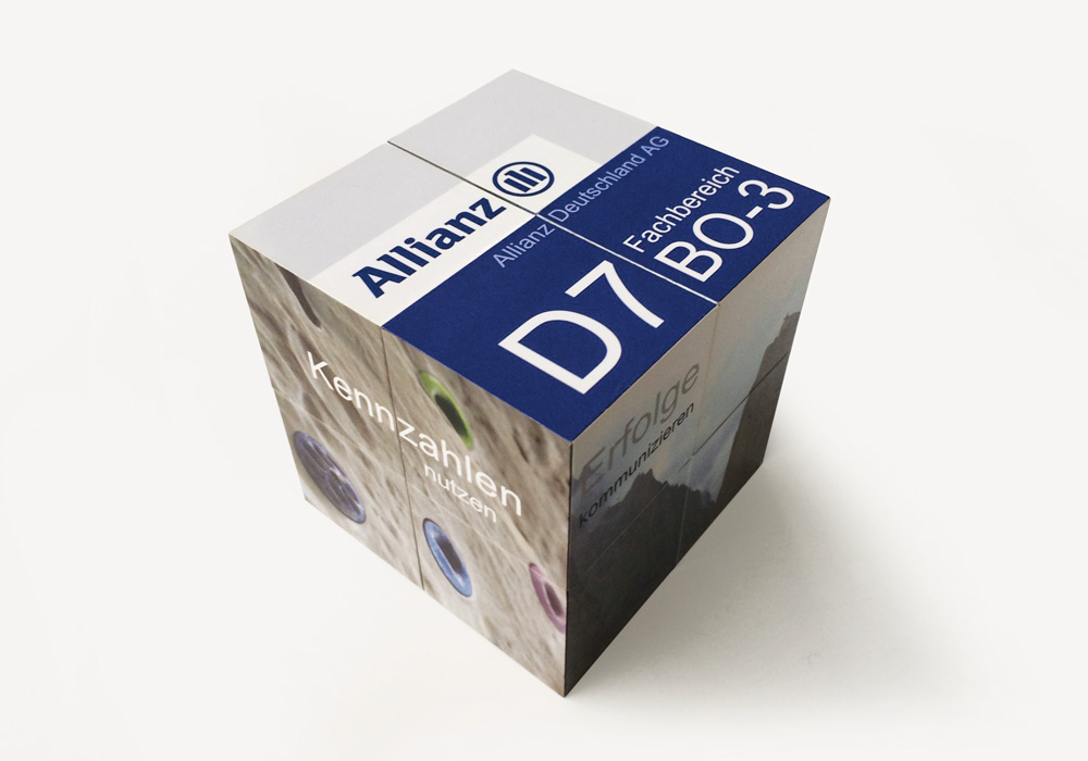 Promotion-Falt-Würfel Allianz | DEPUNKT