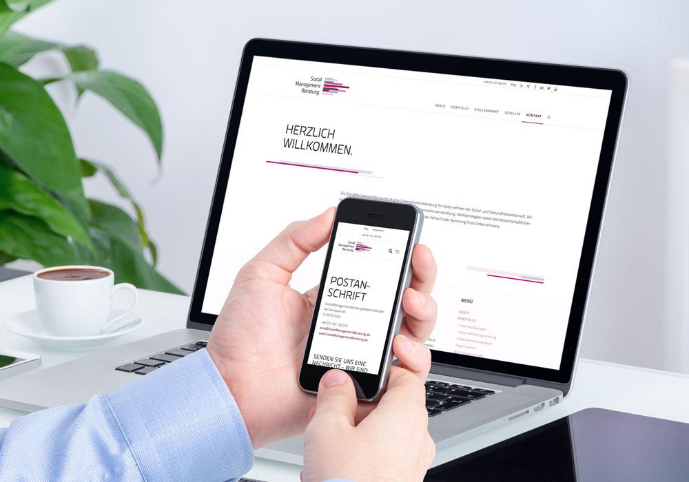 Responsive Website Sozialmanagementberatung | DEPUNKT