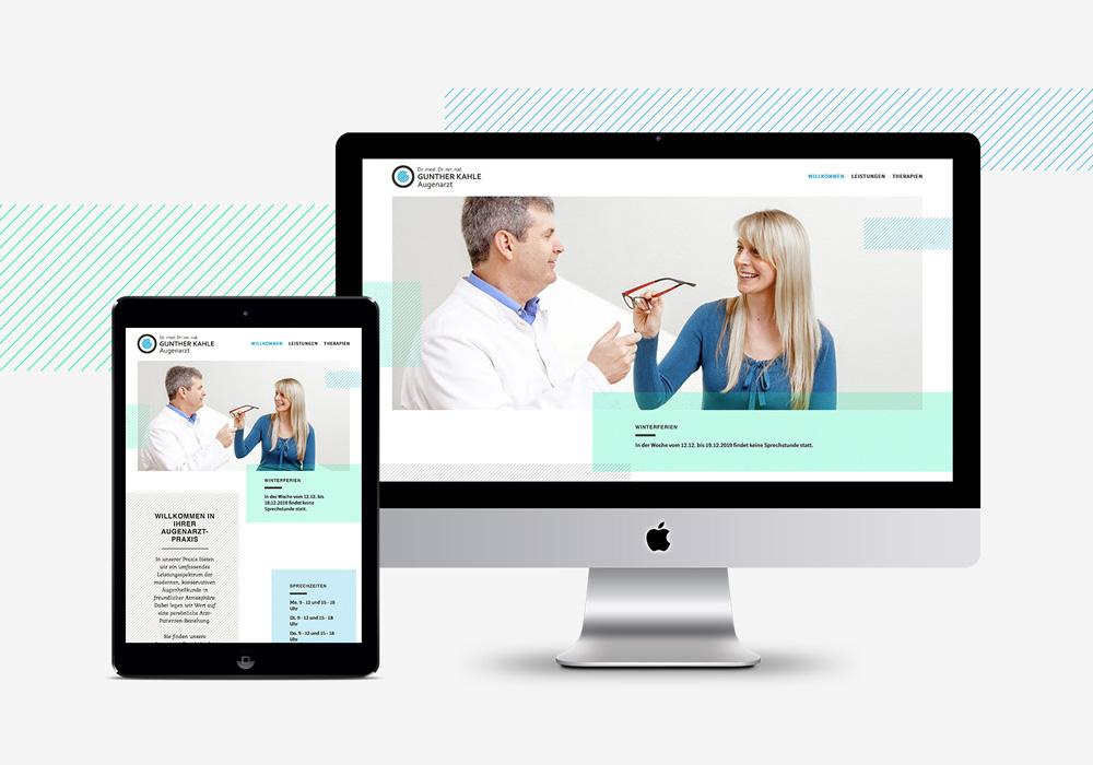responsive Webseite Augenarzt Kahle | DEPUNKT
